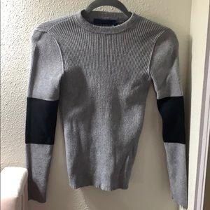 Calvin Klein Grey Color Block Sweater